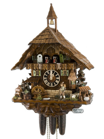 86740T Hones Hunters Theme 8 Day Cuckoo Clock