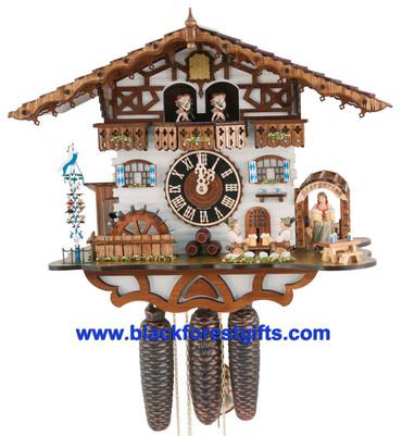 8664TZENZI-1 Hones 8 Day Beer Garden Cuckoo Clock