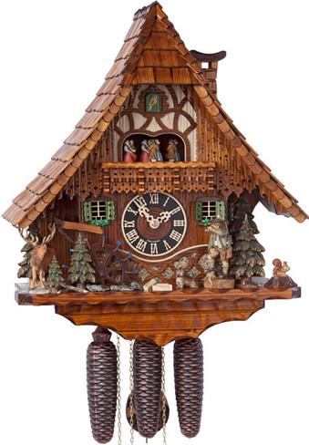 86209T Hones Hunter Style 8 Day Cuckoo Clock