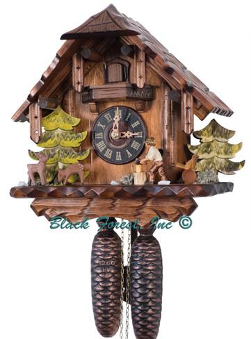 427-8 Wood Chopper Chalet 8 Day Cuckoo Clock