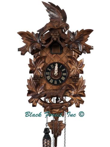 932QM Quartz Musical Fox and Grapes Cuckoo Clock