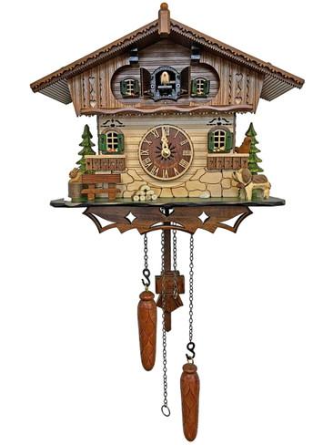 412QM-MG Quartz Dog Musical Cuckoo Clock