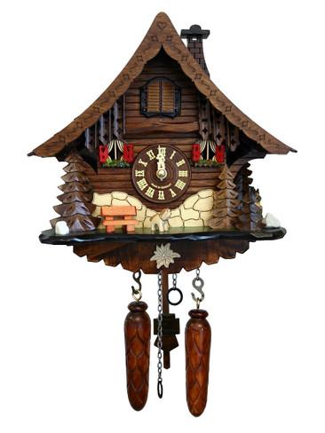 471QM-MG Quartz Chalet Musical Cuckoo Clock