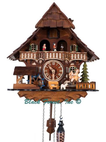 5694 QMT Quartz Girl on Horse Musical Cuckoo Clock