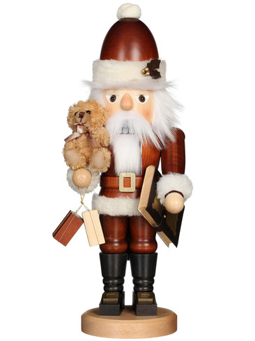 32-965 Ulbricht Natural Santa with Teddy Nutcracker