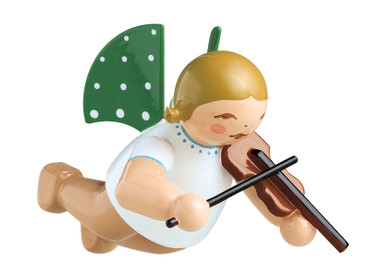 650-130-2 Hanging Angel Ornament with Violin from Wendt and Kuhn