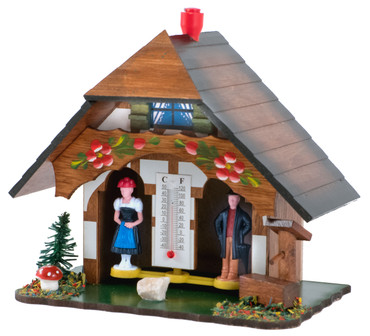 55W Authentic Wood German Weather House