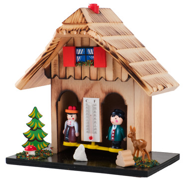 90 Wood Natural German Weather House