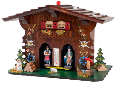812W All Wood Painted German Weather House