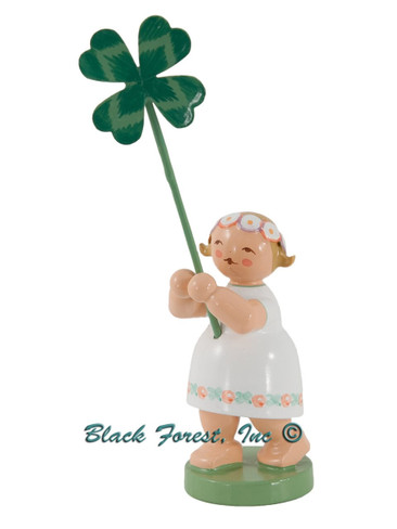 5248-11 Girl with 4 Leaf Clover from Wendt and Kuhn