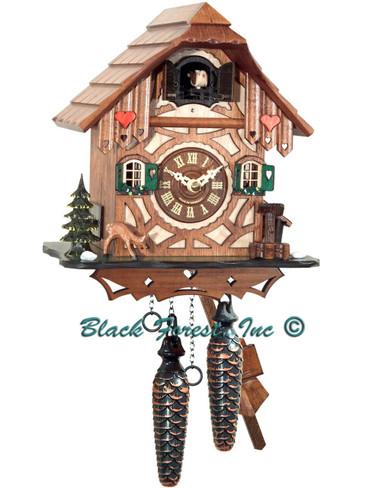 BF314BS Quartz Chalet Cuckoo Clock