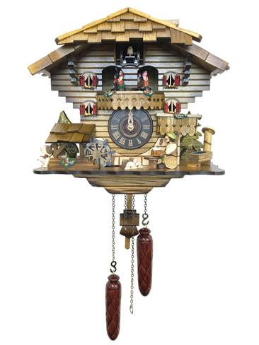 490QMT Musical Beer Drinker Chalet Quartz Cuckoo Clock
