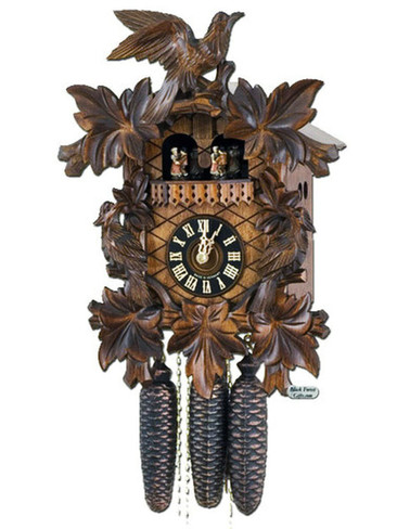 8601-5t Hones 8 Day Musical Carved Cuckoo Clock