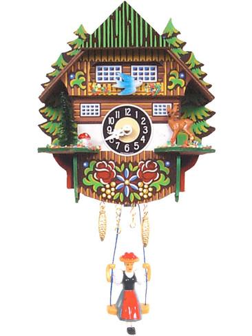 0144SQ Quartz Swinging Lady with sound Miniature Clock