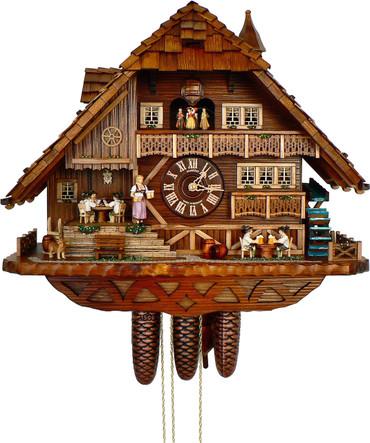 8TMT3170-9 Anton Schneider 8 Day Card Players Cuckoo Clock