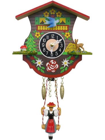 110SQ Quartz Swinging Lady Miniature Clock