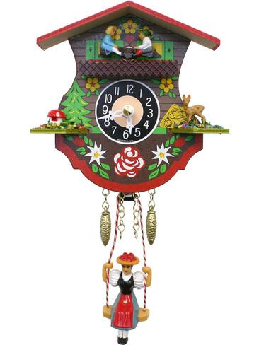 110KSQ Quartz Swinging Lady Seesaw Miniature Clock