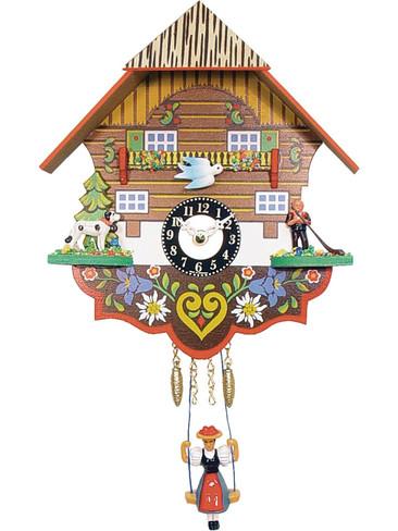 0193SQ Quartz Swinging Lady with sound Miniature Clock