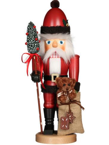 32-816 Ulbricht Santa with Teddy Nutcracker