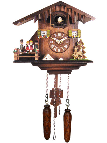 424QMT Quartz Music and Dangers Cuckoo Clock