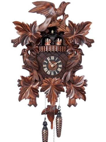 601-5TQ Quartz Music and Dancers Carved Cuckoo Clock