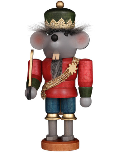 32-612 Ulbricht Mini Glazed Mouse King Nutcracker