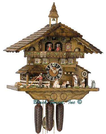 8656T Hones 8 Day Milking Cow Cuckoo Clock