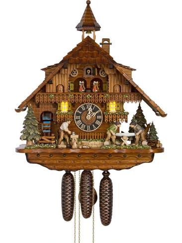 86275T Hones 8 Day Wood Sawers Cuckoo Clock
