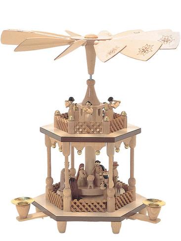1371 Two Tier German Christmas Pyramid