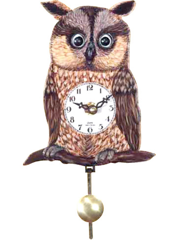 204QP Battery Owl Clock with moving eyes