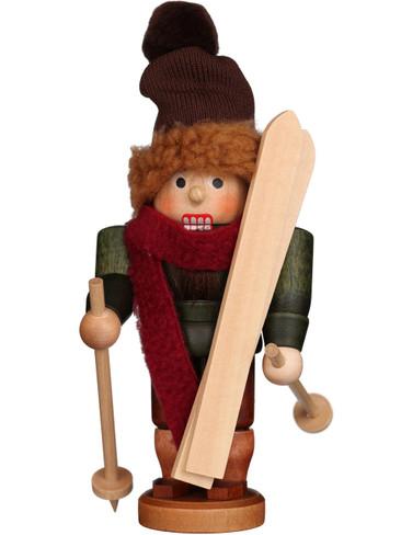 32-608 Ulbricht Skier Mini Nutcracker