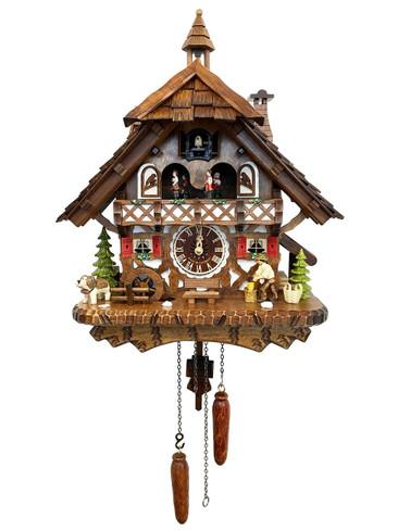 4491QMT Quartz Wood Chopper Musical Cuckoo Clock
