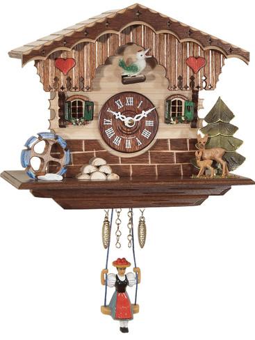 0189SQ Quartz Swinging Lady with sound Miniature Clock