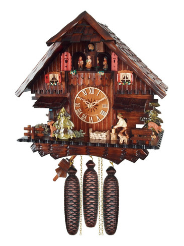 474-8MT 8 Day Wood Chopper German Cuckoo Clock