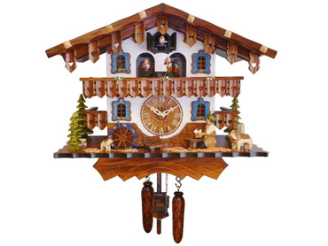 447QMT Quartz Bavarian Beer Drinker Music and Dancers Cuckoo Clock