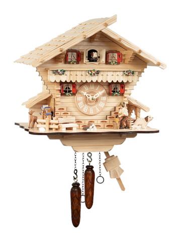 482-7QM-MG Quartz Wood Chopper Musical Cuckoo Clock