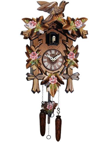 532-9Q Quartz Roses Carved Cuckoo Clock