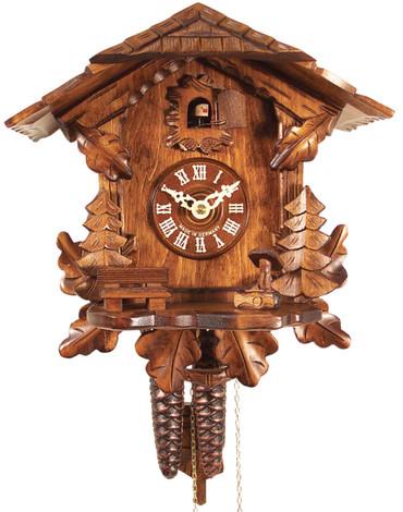 436HV Carved Chalet 1 Day Cuckoo Clock