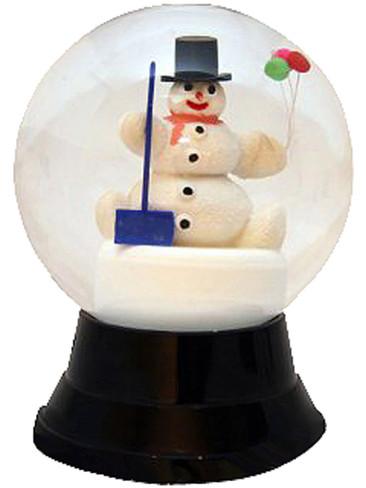 PR1720 Snowman with Shovel Perzy Snow Globe from Vienna Austria