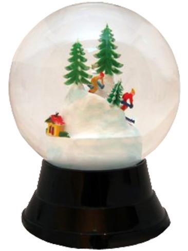 PR1722 Large Skiers Perzy Snow Globe from Vienna Austria