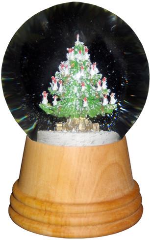 2404 Medium Christmas Tree Perzy Snow Globe from Vienna Austria