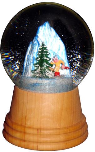 2407 Medium Skier Perzy Snow Globe from Vienna Austria