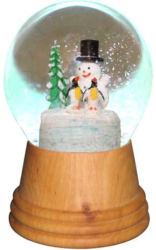 2423 Medium Snowman with Penguin Perzy Snow Globe from Vienna Austria
