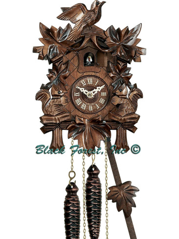 622 1 Day Carved Squirrels Cuckoo Clock