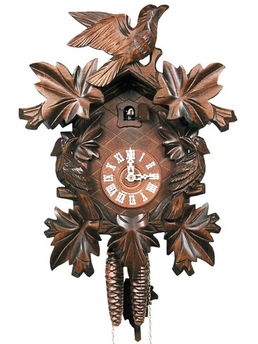 632-1 One Day Carved Black Forest Cuckoo Clock