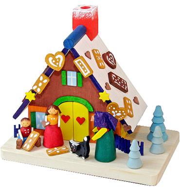 172 House with Hansel and Gretel Erzgebirge Incense Burner Smoker