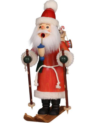 35-253 Santa on Skis Incense Burner Christian Ulbricht Smoker