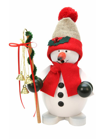 35-853 Snowman with Santa Hat Incense Burner Christian Ulbricht Smoker