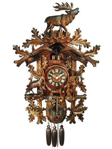 5014401P 8 Day Hunters Standing Stag 8 Day Cuckoo Clock
