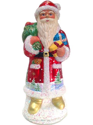 9327 Red Santa Schaller Paper Mache Candy Container